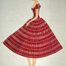 Sketch of a dress. Zora Živadinovic Davidovic
