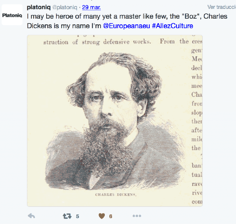 Charles Dickens is my name I'm @Europeanaeu